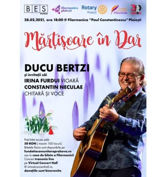 """""""Mărțișoare în dar"""", pe 28 februarie la Filarmonica Paul Constantinescu din Ploiești"""