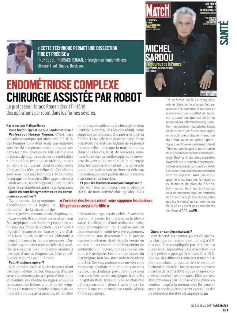 Dr. Horace Roman apare în paginile Paris Match