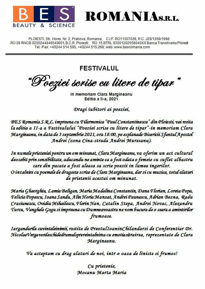 """Festivalul """"Poeziei scrise cu litere de tipar"""""""